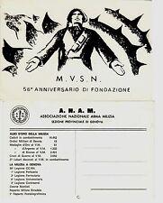 #M.V.S.N.- 56° ANNIVERSARIO DI FONDAZIONE ASS. NAZ. ARMA MILIZIA- SEZ. GENOVA