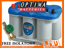 OPTIMA D27M BLUE-TOP MARINE DEEP CYCLE BATTERY 800CCA/1000CA/RC140/66AH@C/20