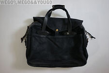 FILSON ORIGINAL SHOULDER BAG BRIEFCASE BLACK CANVAS WAX MADE IN THE USA