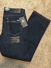 NWT $88 ROCK & REPUBLIC STRAIGHT FIT AMPLIFY STRETCH JEANS DARK BLUE WASH 34X34