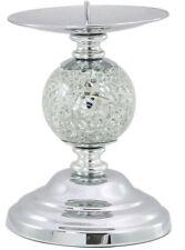 Mosaico de plata brillo una bola Candelabro Decorativo sostenedor de vela