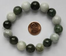 Untreated 100% Natural (Grade A) Chinese Jadeite Jade Beads Bracelet #Br324