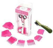 SCAREDY CUT Silent Clipper, PINK, with Safari Mat Remover for Dogs, GREEN