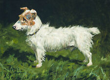 "1920 George Paice, JACK RUSSELL TERRIER, antique Decor, DOG, 20""x14"" Canvas Art"