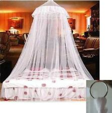 White Mosquito Net Canopy Fly Insect Protection Single Entry Double King Size NE