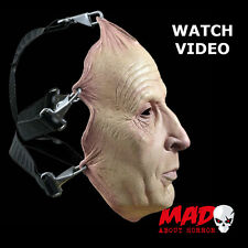 Official SAW Jigsaw Flesh Latex Collectors Mask - Halloween Horror Film Killer