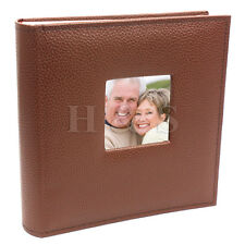 "6x4"" 200 Photos Large PU Leather Slip in Photo Album Brown Vintage Memo Book --B"