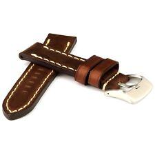 Uhrband handgenäht Sattlerleder dunkelbraun 22mm  Stärke 4,5 mm  Uhrarmband