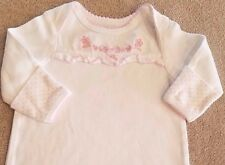 LITTLE ME 0-3 MONTH WHITE RUFFLE FLOWERS SLEEP GOWN ADORABLE!