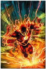The Flash Marvel Superheroes Comic Art Silk Wall Poster 24x36 inch