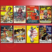 Classic B Movie Film Poster Fridge Magnets Set of 8 large fridge magnets No.1