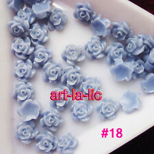 20pcs Nail Art 3D Rose Beads Resin Nail Art Tips Decoration Gel Nail Size 6mm