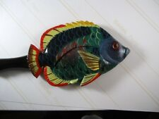 "HAND PAINTED FANCY "" TROPICAL FISH"" BACK SCRATCHER #7-GREAT GIFT FOR EVERYONE-"