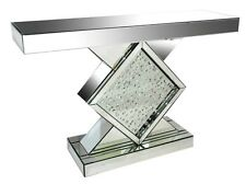 Mirrored Console Table Floating Crystal Mirror hall table side table  VEGAS