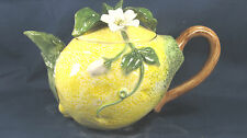 "Teapot ""Lemon"" Hand Made Porcelian Kitchen Collectable Fruit"
