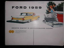 Prospekt Sales Brochure Ford 1959 Technische Daten Custom 300 Station Wagon