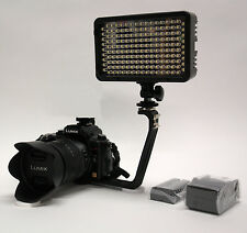 Pro 12 LED DSLR video light w/ LP-E6 battery for Canon 7D 6D 5D Mark ii 70D 60D
