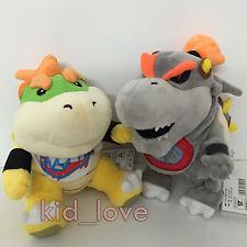 """2X Super Mario Bros Plush Dry Bowser Jr. Soft Toy Stuffed Animal Doll Teddy 7.5"""""""