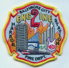 """NEW"" Maryland Baltimore City Fire Department Engine 2 Unit Patch"