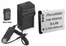 Battery + Charger for Sanyo VAR-L80U VPC-CS1 VPC-CS1EX VPCCA100GX VPCCA100PX