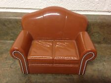 Bratz World Ski Lodge Living Room Office Brown Sofa Couch House Furniture