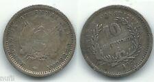 URUGUAY 10 Centesimos 1893  KM# 14