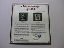 15 Cent Epiphany Window Bethlehem Chapel, Wreath and Toys 1980 Christmas Stamps