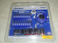 "Brand New KOBALT 26 piece Palm Ratchet Tool Set 1/4"" Drive Item #0338532"