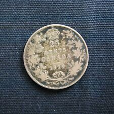 Munt Canada: 25 Cents 1919 (zilver)