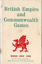 1958 commonweath jeux cardiff-programme & visitors guide-sport-g