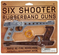 2 pezzi Six Shooter Rubberband Guns/gimmiband pistole