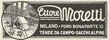 W6242 Ettore Moretti_Tende da campo_Sacchi Alpini - Pubblicità 1930 - Advertis.