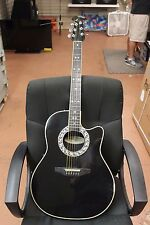 Ovation Custom Legend 1867 Acoustic/Electric Guitar In Black USA Made