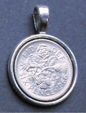 1962 55th birthday lucky Sixpence charm Pendant wedding anniversary royal gift