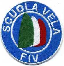 Toppa ricamata patch termoadesiva FIV Federazione Italiana Vela SCUOLA VELA