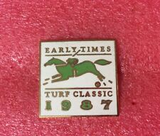Pins Cheval Turf Hippisme Course EARLY TIMES TURF CLASSIC 1987