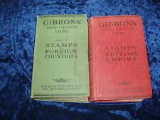 GIBBONS' PRICED CATALOGUE 1936 PART I & II ** £3.25 UK P&P ** HARDBACKS