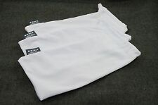 OAKLEY 3 PACK - LARGE WHITE MICRO FIBER CLOTH SUNGLASSES CLEANING STORAGE BAGS