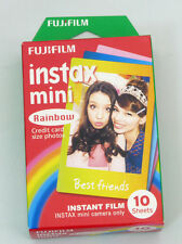 AU Fuji  Instax Mini Rainbow Film 7s 8 25 50s 90 Polaroid 300  Share SP-1