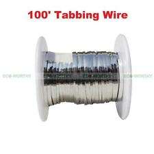 100feet Tabbing Wire(2mm) for Solar Panel DIY NO Additional Solder Needed