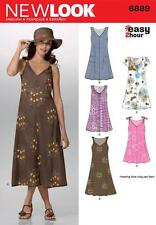 NEW LOOK SEWING PATTERN MISSES' EASY HOURS DRESS DRESSES SIZE 8 - 16  6889