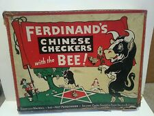 RARE Walt Disney Enterprise Parker Brothers 1939 Ferdinand bull Chinese Checkers