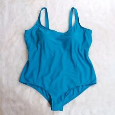 Womens Swim 365 Maillot One Piece Swimsuit Plus Size 28W Gorgeous Teal NWOT
