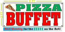 PIZZA BUFFET All Weather Banner Sign Full Color ALL YOU CAN EAT