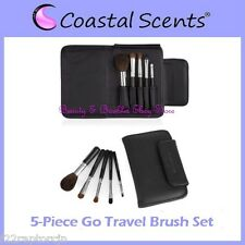 NEW Coastal Scents 5-Piece GO TRAVEL Brush Set w/Case FREE SHIPPING Face Makeup