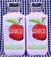 2 Bath & Body Works COUNTRY APPLE Shea & Vitamin E Body Lotion