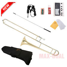 NEWEST! GOLD BAND STUDENT Bb SLIDE TROMBONE with Case and Mouthpiece