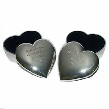 Silver Plated Heart Shaped Trinket Box FREE ENGRAVING