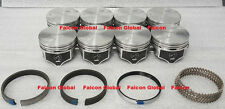 Chevy 7.4/454 Speed Pro Hypereutectic Flat Top Pistons+MOLY Rings Set/Kit +.060""