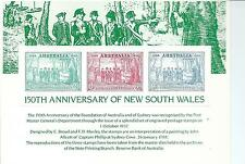 Stamp Replicia Card No 15 150th Anniversary of NSW Both sides shown